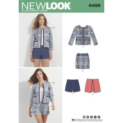 NEWLOOK Sewing Pattern D0565 / 6496 - Misses' Jacket, Skort, Shorts or Skirt, A