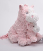 Pink Horse with Baby Plush 33cm