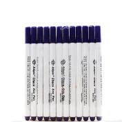 Adealink 12pcs Washable Cross Stitch Water-based Pen Erasable Mark Writing Stationery