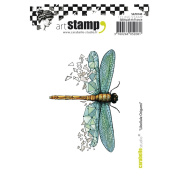 Carabelle Studio SA70140 A7 Cling Stamp - Libellule (Dragonfly) Origami