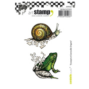 Carabelle Studio SA70142 A7 Cling Stamp - Snail and Frog Origami