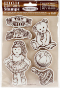 WTKCC109 Stamperia Cling Stamp 14cm x 18cm -Toy Shop