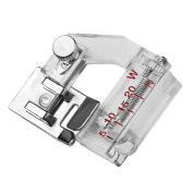 BleuMoo Adjustable Bias Binder Presser Foot Feet Binding Feet Sewing Machine Attachments