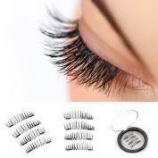 VereBeauty Long Dual Magnetic False Eyelashes, Natural Look, Most Glamorous 3D Ultra Soft, Natural Look, Glue Free Handmade Reusable False Eyelashes