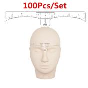 GARYOB Eyebrow Ruler Sticker,100Pcs Disposable Adhesive Eyebrow Microblading ruler, Accurate and Perfect Makeup Tool
