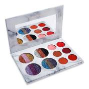 Pressed Glitter Eyeshadow Palette - Highly Pigmented, Shimmery - Waterproof & Long-Lasting