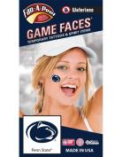 Penn State (PSU) Nittany Lions – Waterless Peel & Stick Temporary Spirit Tattoos – 4-Piece – Dark Royal Blue Lion Head Oval Logo