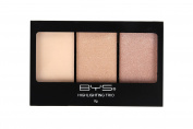 BYS Highlighting Trio Palette Illuminate - 1 Matte and 2 Shimmering Shades makeup palette