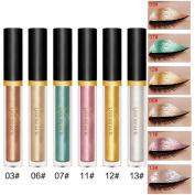 RNTOP 6 Pcs Halloween Style Metallic Smoky Eyeshadow Waterproof Glitter Liquid Eyeliner