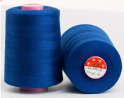 6000 Yards Royal Blue Reel 20s 2 202 Tex 60 Tickets Size 50 Spools Polyester PP SP Sewing Thread Hand Machine industrial Embroidery Yarn Quilting Serger Clothes Jeans Canvas Oxford Cloth Leather