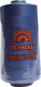 RaanPahMuang Peacock Brand 100% Spun Polyester Machine Sewing Thread 4000 metre 1 spool, Dark Blue