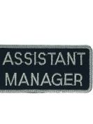 8.9cm x 4.4cm . Assistant manager Ideal for adorning your jeans, hats, bags, jackets and shirts.