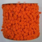 HomeBuy Pom Pom Bobble Trim Fringe - Medium Size 10Mm Orange D
