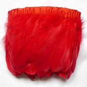 ADAMAI 2 Yards Goose Feathers Trims Fringe DIY Dress Sewing Crafts Costumes Decoration