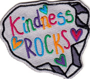 """KINDNESS ROCKS"" - WORDS - LOVE - KINDNESS - Iron On Embroidered Patch"