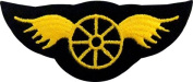 Star Wing Military Biker Applique Embroidered Sew Iron on Patch