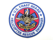 US Coast Guard Helicopter Rescue Swimmer 11cm Embroidery Patch