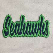 Seahawks - Navy Blue/Action Green - Team Mascot - Words/Names - Iron on Applique/Embroidered Patch