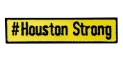 Embroidered Sticker / Adhesive patch - #Houston Strong