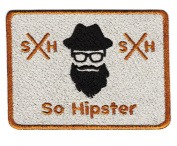 Coo & Cute So Hipster Shirt Patch 8.5cm - Badge - Patches - Flannel - Shorts - Bag - Environment