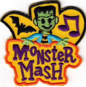 """MONSTER MASH"""" - HALLOWEEN - MUSIC - DANCE - MONSTERS -IRON ON EMBROIDERED PATCH DIY Article of Clothing"""