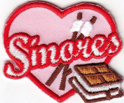 """S'MORES"" - DESSERT - BAKING - FOOD - TREATS - Iron On Embroidered Patch"