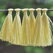 50 Pieces,Tassels in Light Yellow Colour