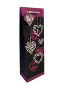 High Quality Wine Bag, Gift Bag, Wedding Bag - 12pcs Pink Hearts Classic Design , Great for Gfit, Presentation!