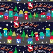 Hallmark Christmas Gift Wrap -Merry Christmas Santa and Sleigh Roll Wrap