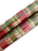 Christmas Gift Wrapping Paper (2 Rolls) Red and Green Plaid