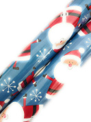 Christmas Gift Wrapping Paper (2 Rolls) Santa Blue