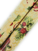 Christmas Gift Wrapping Paper (2 Rolls) Red Poinsettias and Holly