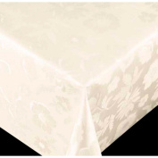 Tablecloth diamond series flower off-white 67050 width
