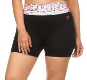 Women Plus Size Biker Exercise Yoga Shorts, Pink, 3XL/4XL