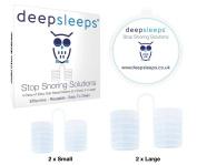 Stop Snoring Solutions by Deep Sleeps - - Breathe Easier - Best Snoring Aids - Snore Stopper - Snoring Device - Nasal Dilators - Best Snoring Solution - 60 Day .