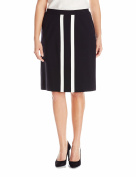 Nine West NEW Black Womens Size 24W Plus Contrast Straight Pencil Skirt