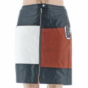 INC NEW Black White Women's Size 24W Plus Faux-Leather Mini Skirt