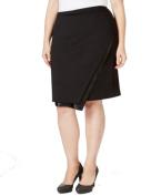 Calvin Klein NEW Deep Black Women's Size 16W Plus Asymmetrical Skirt