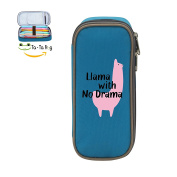 Mybox Llama With No Drama Cube Pen Case Pencil Box Soft Canvas Student Stationery Office Storage