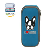 Mybox French Bull Dog Cube Pen Case Pencil Box Soft Canvas Student Stationery Office Storage