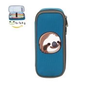 Mybox Sloth Baby Cube Pen Case Pencil Box Soft Canvas Student Stationery Office Storage