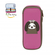 Mybox Sad Sloth Cube Pen Case Pencil Box Soft Canvas Student Stationery Office Storage