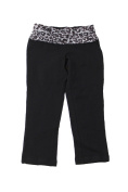 Material Girl Juniors Black Lace-Band Cropped Leggings XXS