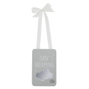 "Azzure Home - Baby Door Hanger "" Baby Dreamer"" with White Ribbon"