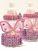 10 Pink Fillable Butterfly Bottles Baby Shower Favours Prizes Girl Boy Decorations