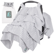 Baby-B-Cool Breathable, Vented Car Seat Canopy Cover W/Removable Flaps