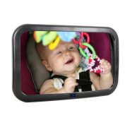 Baby Backseat Mirror For Car - View Infant in Rear Facing Car Seat - Adjustable & Shatterproof - Baby Shower Gift - Baby Registry