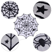 BranXin(TM) Halloween Party Decoration Sp id er web Table Cloth 100cm Black Lace Table Covers for Halloween Decoration Home Decor