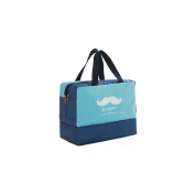 Benail Wet and Dry Bag Baby Nappy Bag with Wet Section, Dry Section, Shoes Section