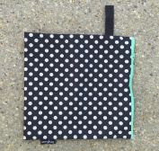 Luv Bug Wet Bag for Cloth Nappies, Swimwear, and Burp Cloths, Polka Dots with Aqua Zip